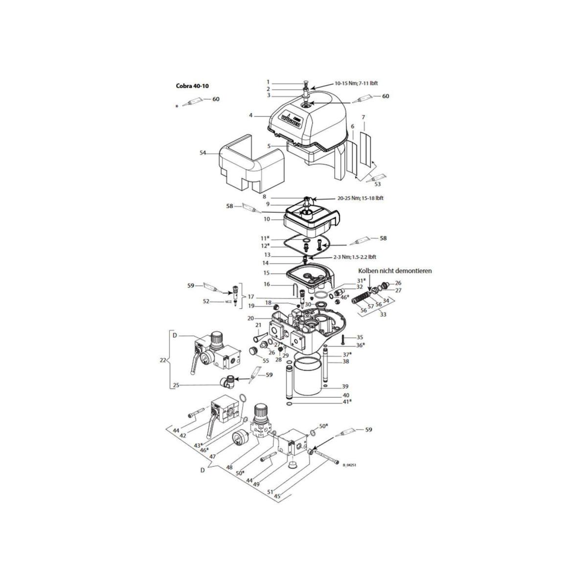 Ersatzteile luftmotor cobra 40 10 23 14 for Piezas de repuesto